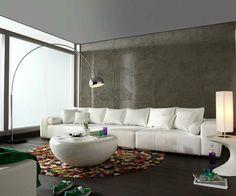 Fantastisch Wohnzimmer Modern Einrichten Runder Teppich Weißer Couchtisch Moderne  Beleuchtung