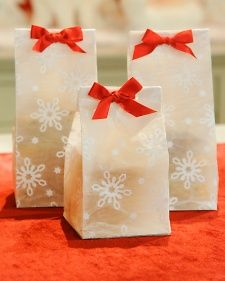 """Turn handmade decorative wrap into giftable winter treat bags for Christmas and the holidays with this simple how-to from """"The Martha Stewart Show."""""""