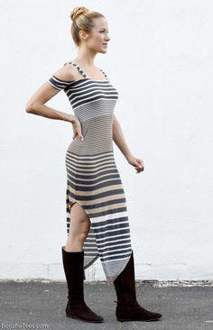 """Alix"" - Double Strap T-Shirt Dress"