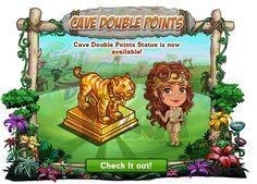 Caveman Club: Double Cave Points Statue  Solitacifra:225 FVCashe possiamoacquistare la Double CavePoints Statueche raddoppierà ogni puntoguadagnato!  La troviamonel Market a 225 FV Cash