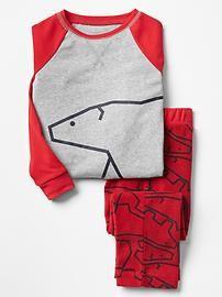Holiday raglan fleece PJ set