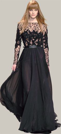 i call this the spiderweb dress. ELIE SAAB - Ready-to-Wear - Fall Winter 2012-2013