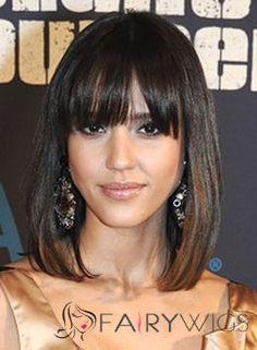 100% Human Hair Brown Midium Perfect Wigs 14 Inch