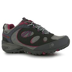 Karrimor Womens Ladies Arete eVent Walking Shoes Hiking Outdoor Lace Up Footwear GreyPink 5 38 -- Continue to the product at the image link.