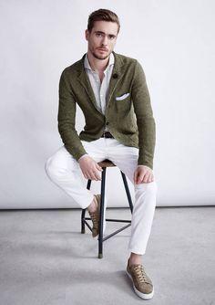 Klassisches Frühlingsoutfit in weiß und oliv. | Windsor . . . . . der Blog für den Gentleman - www.thegentlemanclub.de/blog