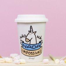 """Copo take away """"Não há nada impossível"""" (PT)"""
