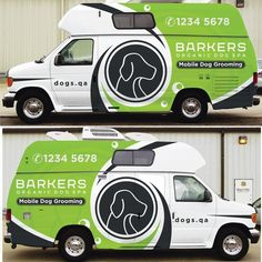 e535e5cc9a  Guaranteed Prize  Design an Amazing Mobile Dog Grooming Van Wrap that pops  out and wows everyone. Barkers Organic Dog Spa is a luxury mobile organic  spa ...