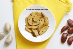 Jackfruit Seed Stir Fry Recipe (Bikanda Upakari) Stir Fry Recipes, Curry Recipes, Veggie Recipes, Indian Food Recipes, Konkani Recipes, Jackfruit Recipes, Mangalore, Indian Snacks, Side Dishes