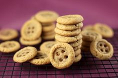 tiny peanut butter button cookies - perfect for a Peter Rabbit-themed tea or party