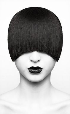 black and white hair pictures Photo D Art, White Hair, Black Hair, White Lips, Black Lips, Hair Pictures, Hair Art, Black And White Photography, Portrait Photography