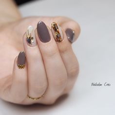 in 2019 in 2019 Gel Nail Art Designs, Cute Nail Designs, Winter Nails 2019, Korean Nails, Bridal Nail Art, Japanese Nail Art, Fall Nail Art, Stylish Nails, Swag Nails