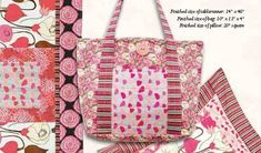 This bag features eight pockets to hold all of your essentials! It is easy to cut and sew and simple quilting provides texture and added strength. It has a