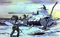 Download wallpaper war, tank, panther, Germans free desktop wallpaper in the resolution 1680x1050 — picture №377677
