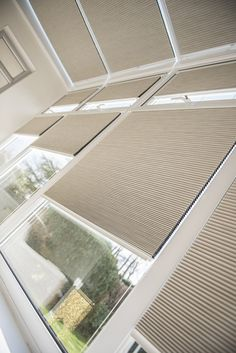 INTU Pleated blinds with Hive Fabric. Ideal for conservatories. Conservatory Curtains, Conservatories, Blinds, Interior, Outdoor Decor, Fabric, Home Decor, Sunroom Blinds, Tejido