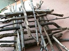 Outdoor Activities for Kids-Building with Sticks