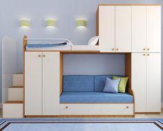 Вариант двухъярусной кровати для разнополых подростков