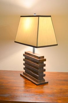 Industrial Handmade Reclaimed Oak Pallet Lamp by OcRusticWoodWorks