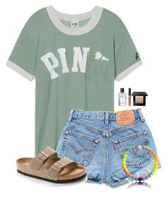 """""""Going to a baseball game tonight:)"""" by victoriaann34 ❤ liked on Polyvore featuring Victoria's Secret, Levi's, Birkenstock and Bobbi Brown Cosmetics"""