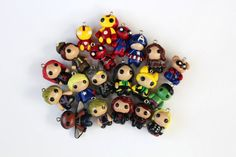 Marvel Universe Charm, Dust Plug, Key chain, Earrings, Necklace, Bracelet, Hair Clip, Magnet, Pin or Brooch - Polymer Clay Charms