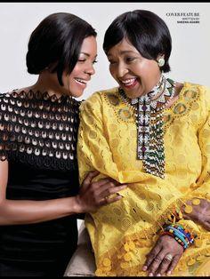 Actress Naomie Harris and u'Mama Wethu Winnie Madikizela Mandela photo shoot for Destiny Magazine Jan 2014 issue African Wear, African History, African Fashion, Winnie Mandela, David Bailey, Advanced Style, Nelson Mandela, Africans, Activists