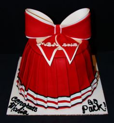 NC State Cheerleader - This cake was made for a high school graduate who had just made the NC State Cheerleading team!!