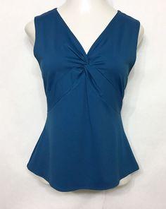 Worthington Stretch Womens Tank Top Blouse Size XL / Teal Blue Sleeveless Shirt #Worthington #TankCami #DressCasual
