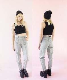 Gitano High-Waisted 80s Grunge Jeans  Vintage Grey by ACTUALTEEN