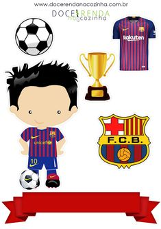 Bolo Do Barcelona, Barcelona Soccer Party, Birthday Cake Toppers, Birthday Cards, Chocolate Bonbon, Candy Images, Soccer Cake, Cake Decorating Frosting, Disney Cartoon Characters