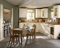 Tewkesbury White - Tewkesbury - Kitchen Families - Kitchen Collection - Howdens Joinery  Colour scheme.