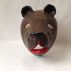 vintage bear mask from a theatre or by sophisticatedflorida