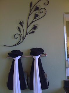 Unique Tie Back For Guest Bathroom Towels I Did Something Similar Using Teled Curtain