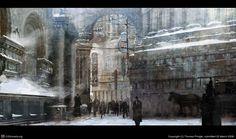 Winter street by Thomas Pringle   2D   CGSociety