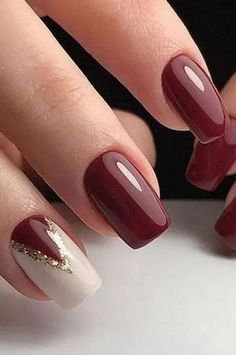 Feb 2020 – 26 chic winter nail designs for short nails 8 – -… – Winter Nails Classy…, You can collect images you discovered organize them, add your own ideas to your collections and share with other people. Burgundy Nail Designs, Classy Nail Designs, Ombre Nail Designs, Winter Nail Designs, Short Nail Designs, Nail Polish Designs, Nail Art Designs, Short Gel Nails, Dry Nails