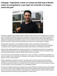 entrevista previa a la formacion del ballet federal.Realizada a IÑaki Urlezaga  por La Plata noticias