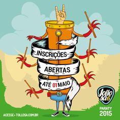 Ainda dá tempo de se inscrever. Corre lá no site www.tollosa.com.br  #Paraty #tollosa #bandas #musica #skate #grafite #evento #cultura #turismo #PousadaDoCareca