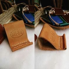 Leather business card holder by ohya leather