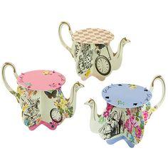 Alice Mini Teapot Cupcake Stands – Via Blossom