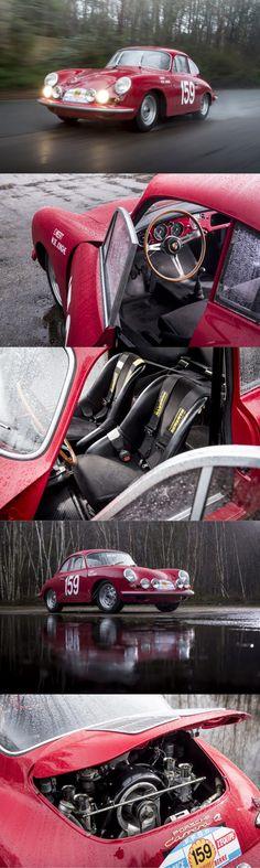 1963 Porsche T6B 356 Carrera 2 GT / 16 produced / 17-390 / red