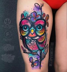 Today we're going to step again into the world of animal tattoos bringing you 50 of the most beautiful owl tattoo designs, explaining their meaning. Tattoo Designs, Owl Tattoo Design, Tattoo Ideas, Tattoo Week, Get A Tattoo, Neue Tattoos, Body Art Tattoos, Tatoos, Couple Tattoos