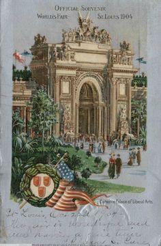 Entrance Palace of Liberal Arts : St. Louis World's Fair, 1904