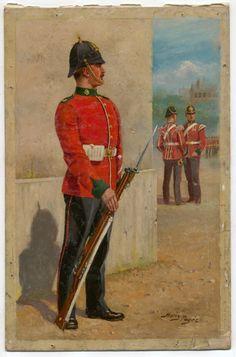 British; Devonshire Regiment, c.1905 by H.Payne