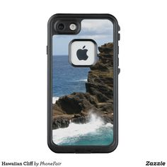 Hawaiian Cliff iPhone 7/8 Case - personalize with your own name #hawaii #blueocean #waves
