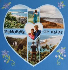 We Love Hawaii!  Photo collage created by Marion Wichael (designer at Lea France). #Photos #Collage #Designs #Stencils #PhotoCollage #Couples #Nature #Beach #Kauai