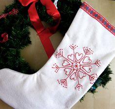Scandinavian christmas stocking