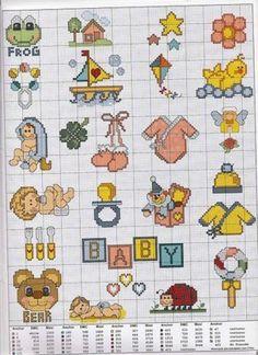 graficos baberos infantiles (5) | Aprender manualidades es ...
