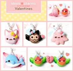 Valentines day items! Available here  http://www.oborocharms.com/collections/Valentines