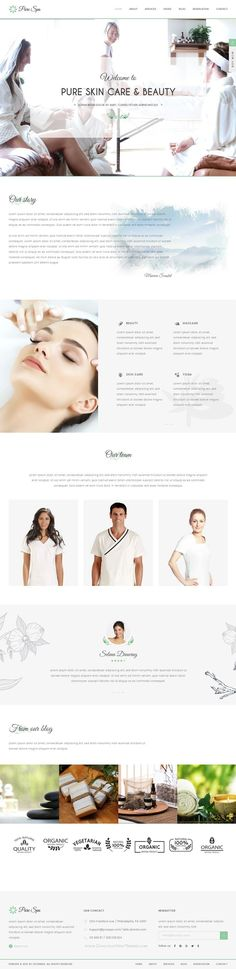 PURE is perfectly responsive beautiful spa and beauty WordPress theme for beauty #salons, wellness centers, SPA, #massage and other health and beauty related #websites.