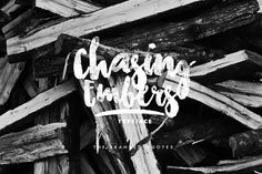 Chasing Embers Typeface by The Branded Quotes on @creativemarket