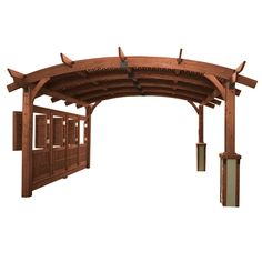 If an outdoor wedding has always been your dream, the Sonoma Arched Wood Pergola - 16 x 16 ft. can help make it a reality. The wood pergola is made. Diy Pergola, Wood Pergola, Pergola Canopy, Deck With Pergola, Outdoor Pergola, Pergola Lighting, Cheap Pergola, Outdoor Rooms, Gazebo