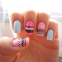 Spring Tribal Nails